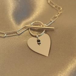 Collier Charme Diamant -...