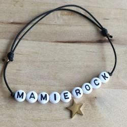 Bracelet perles lettres...
