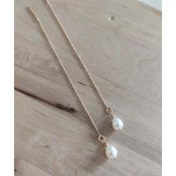 Boucles d'oreilles perles N°1